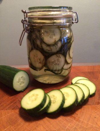 zoetzure komkommer inmaken met dille