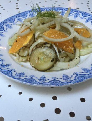 Venkelsalade met sinaasappel en komkommer